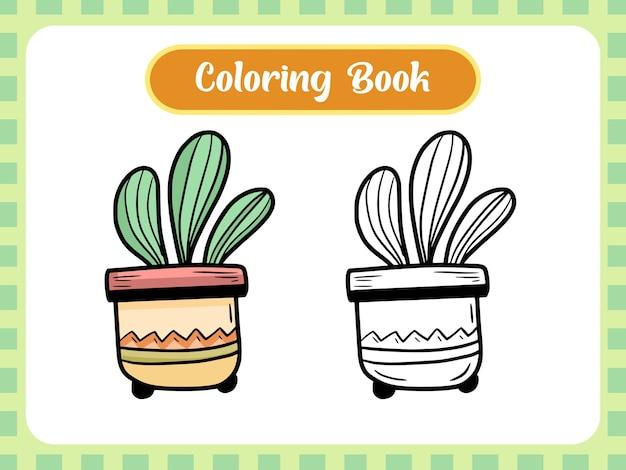 Książka Do Kolorowania Roślin Dla Dzieci Premium Wektorów