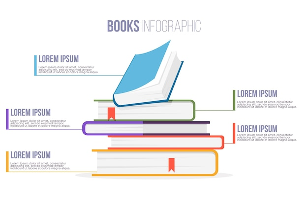 Książka Infografiki Darmowych Wektorów