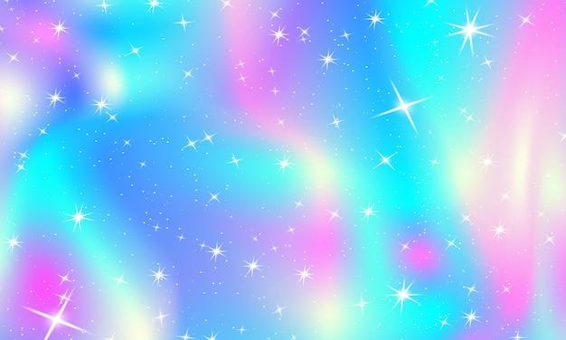 Księżniczka Tło. Magiczne Gwiazdy I światła. Kolory Tęczy Premium Wektorów