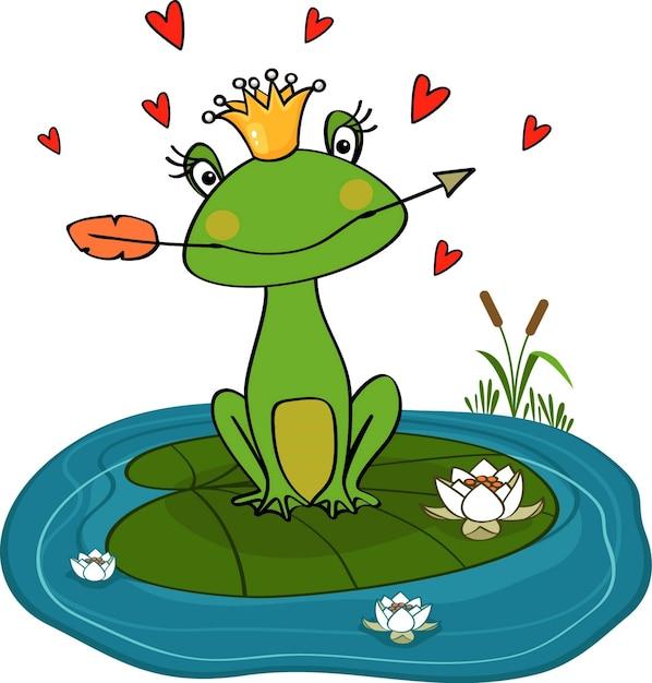 Księżniczka żaby Darmowych Wektorów