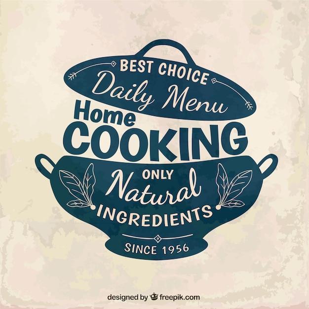 Kuchnia Domowa Odznaka Wektor Darmowe Pobieranie