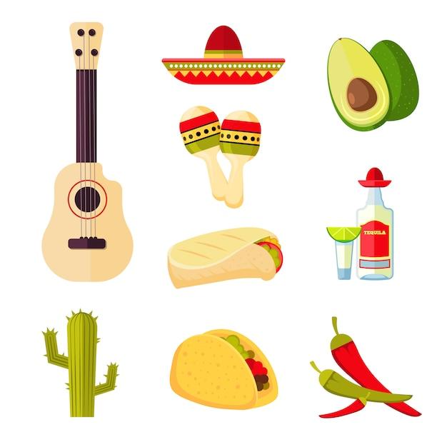 Kuchnia meksykańska kreskówka warzyw Premium Wektorów