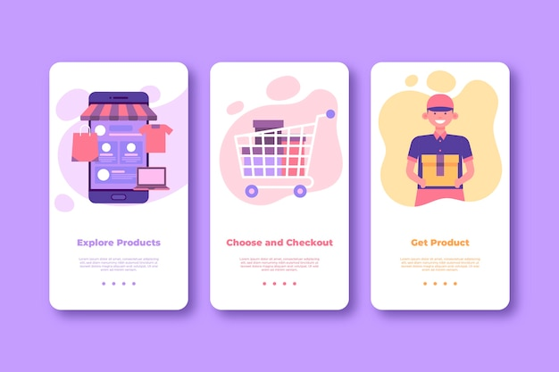 Kup Ekrany Aplikacji Online Do Wbudowania (telefon Komórkowy) Darmowych Wektorów