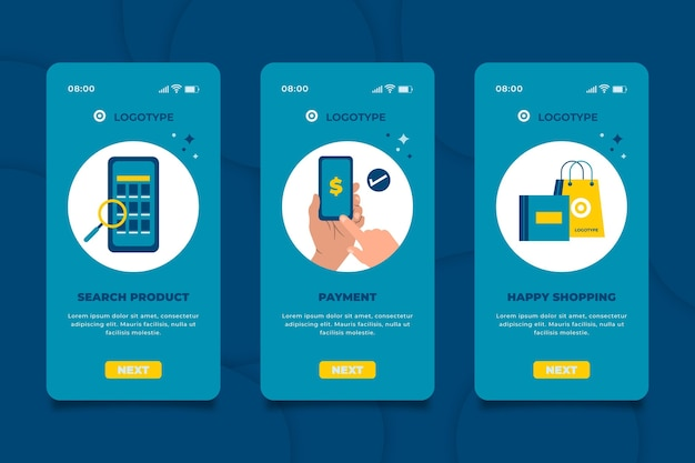 Kup Interfejs Aplikacji Online Darmowych Wektorów