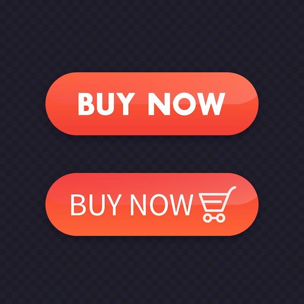 Kup Teraz, Pomarańczowe Przyciski Do Sieci, Ilustracja Premium Wektorów