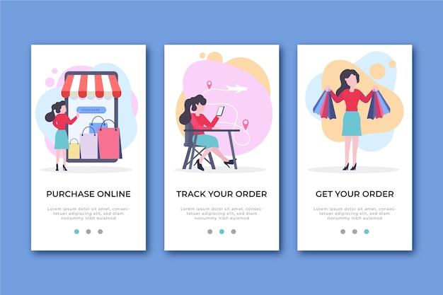 Kupuj Ekrany Aplikacji Online Darmowych Wektorów