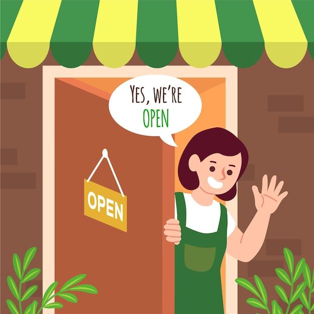 Kupuj Ze Znakiem, że Jesteśmy Otwarci Darmowych Wektorów