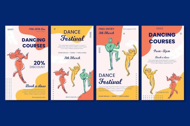Kursy Tańca Szablon Historii W Mediach Społecznościowych Darmowych Wektorów