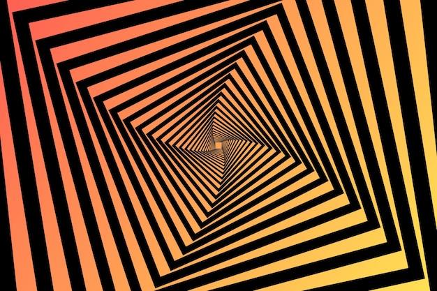 Kwadrat Wiruje Psychodeliczne Złudzenie Optyczne W Tle Darmowych Wektorów
