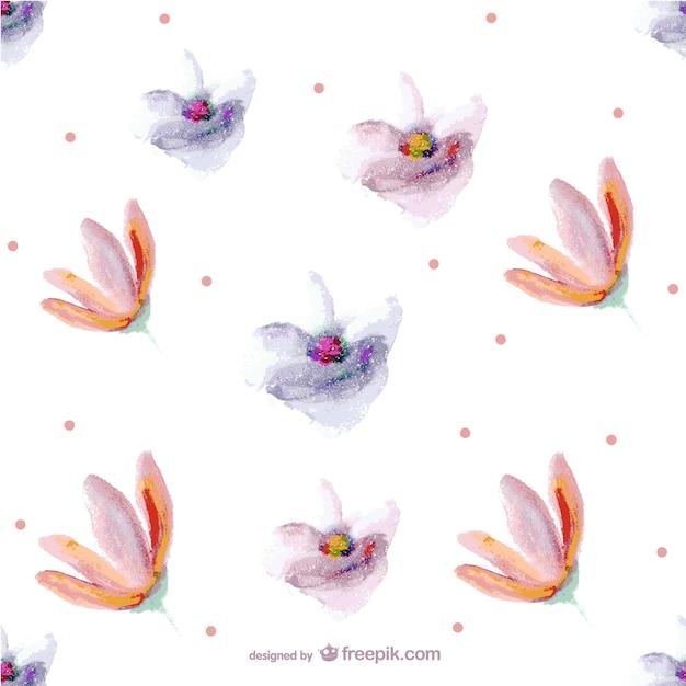Kwiat Bez Szwu Wzór Malowania Darmowych Wektorów