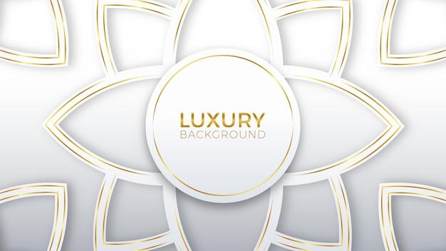 Kwiat białe złoto luksusowe tło Premium Wektorów