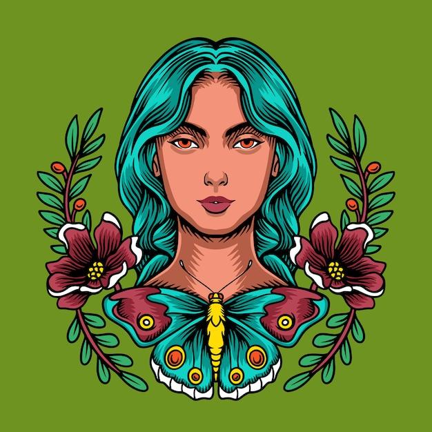 Kwiat Matki Ziemi Premium Wektorów