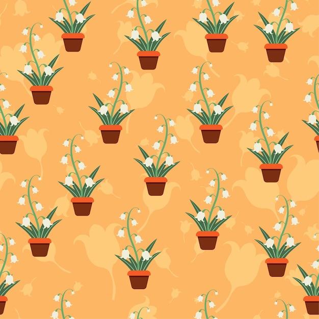 Kwiat Warstwowe Wzór Bez Szwu Wektor Kwiatowe Motywy Premium Wektorów