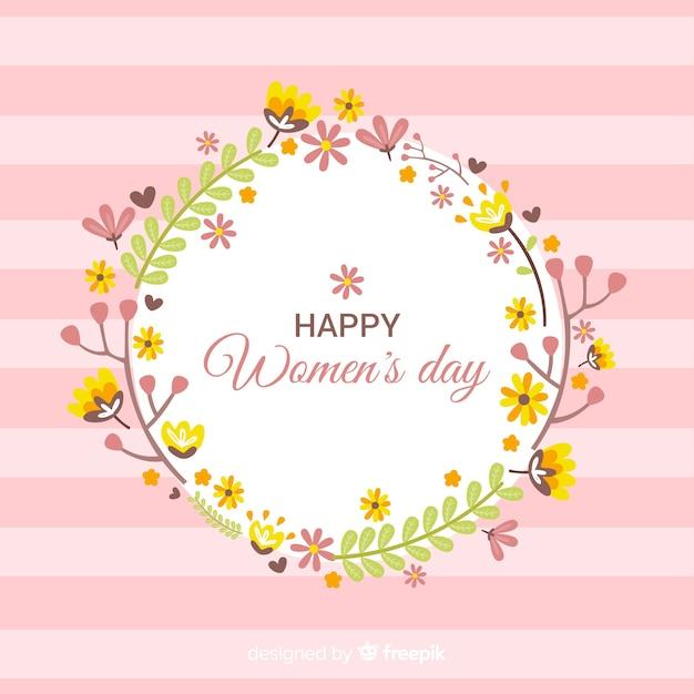 Kwiatowy dzień kobiet tła Darmowych Wektorów