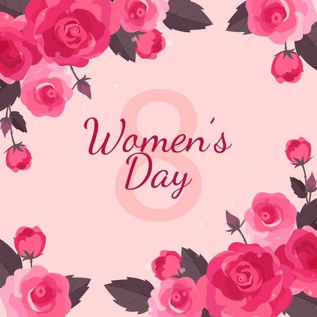 Kwiatowy Dzień Kobiet Darmowych Wektorów