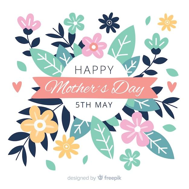 Kwiatowy dzień matki tła Darmowych Wektorów
