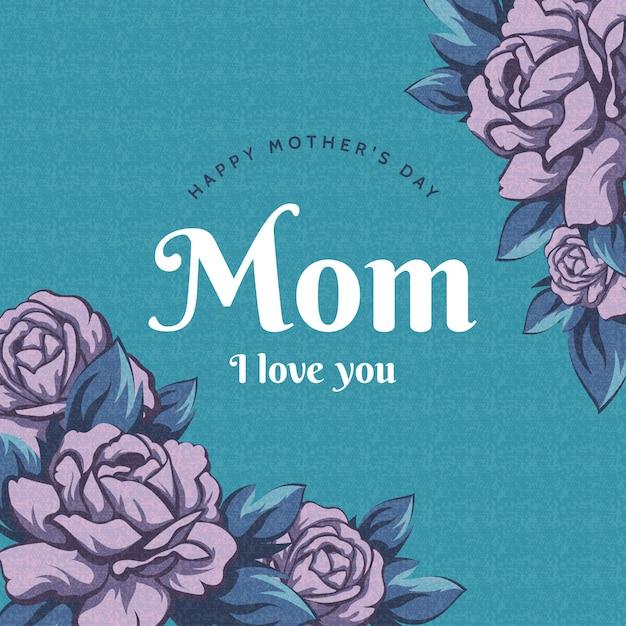 Kwiatowy Dzień Matki Tło Darmowych Wektorów