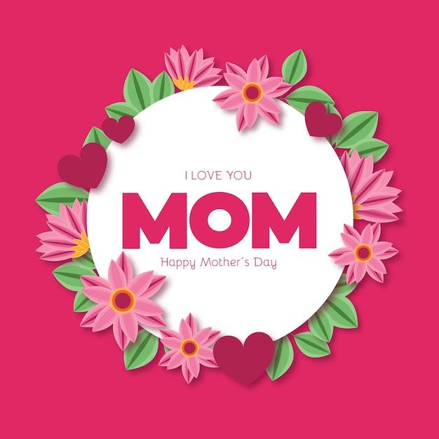 Kwiatowy Dzień Matki Darmowych Wektorów