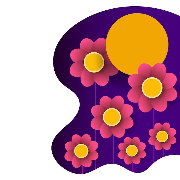 Kwiatowy Projekt Graficzny Wiosny - Z Kolorowymi Kwiatami Premium Wektorów