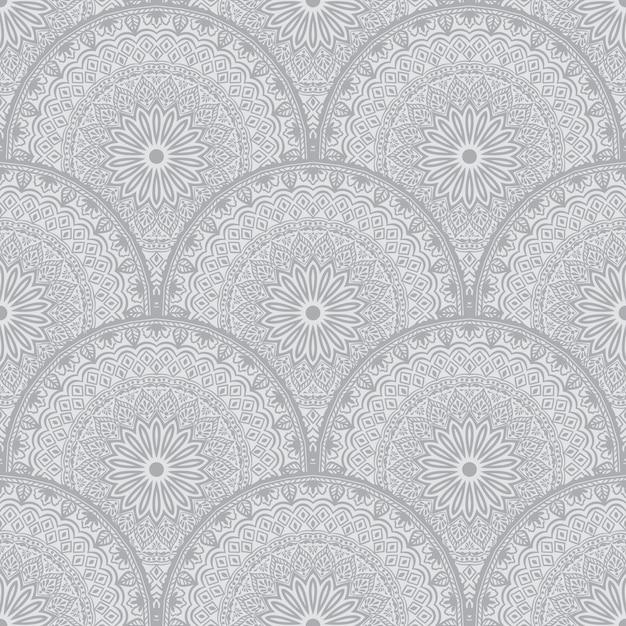 Kwiatowy wzór tła w stylu arabskim. Darmowych Wektorów