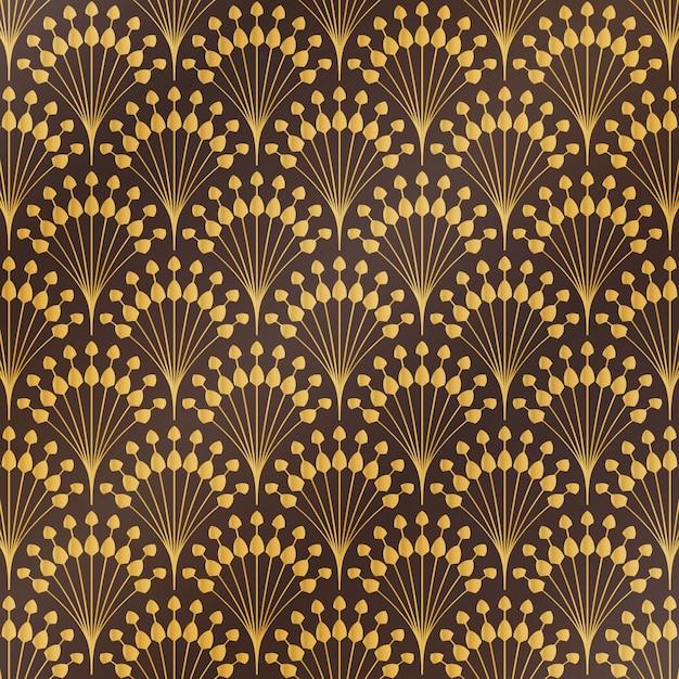 Kwiatowy Wzór W Stylu Art Deco Premium Wektorów