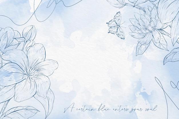 Kwiaty W Akwarela Tło W Pastelowych Kolorach Darmowych Wektorów