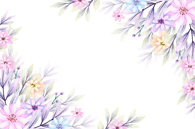 Kwiaty W Akwarela W Pastelowych Kolorach Premium Wektorów