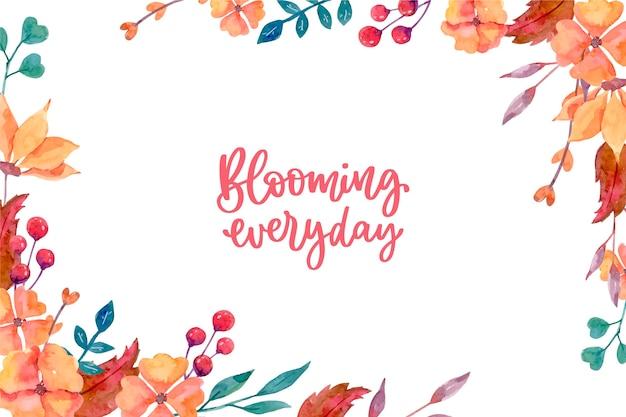 Kwitnące Kwiaty Wzór Tła Darmowych Wektorów