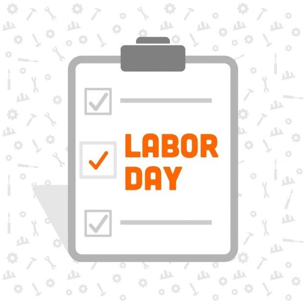 Labor Day Checklist Darmowych Wektorów