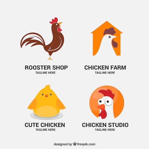 Ładne logo zwierząt gospodarskich Darmowych Wektorów