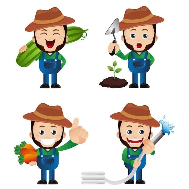 Ładny Zestaw - Zestaw Ogrodnika Premium Wektorów