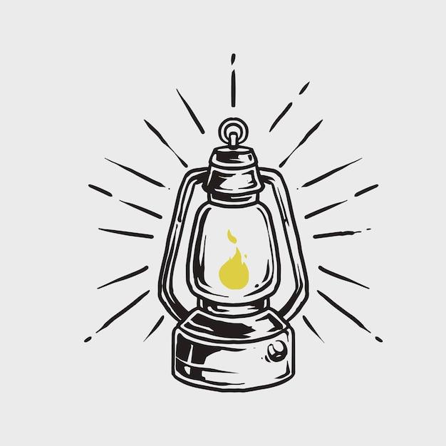 Lampa Huriccane Premium Wektorów
