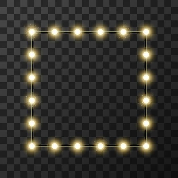Lampki świąteczne na przezroczystym tle Premium Wektorów