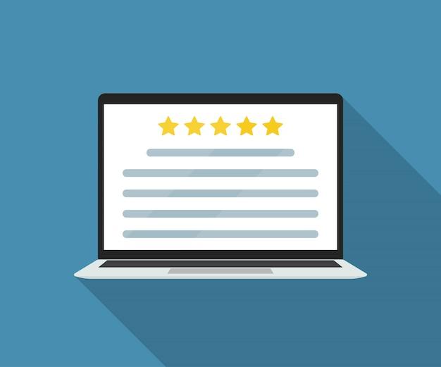 Laptop Z Przeglądem Klienta Online W Mieszkaniu. Premium Wektorów