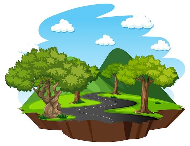 Las Z Elementami Przyrody Darmowych Wektorów