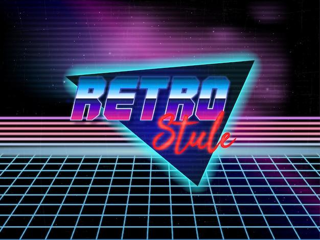 Lata 80-te retro tło wektor edycji tekstu Premium Wektorów