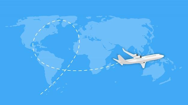 Latający Samolot Wysyłka Ekspresowa Dostawa Koncepcja Premium Wektorów
