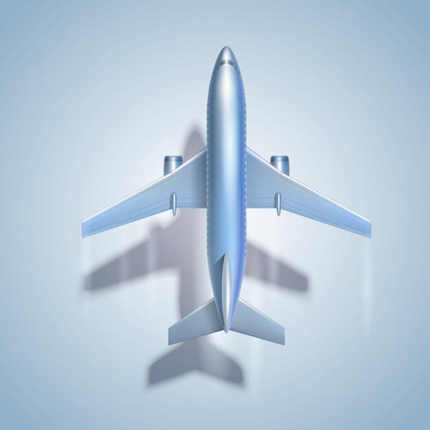Latający symbol samolotu Darmowych Wektorów