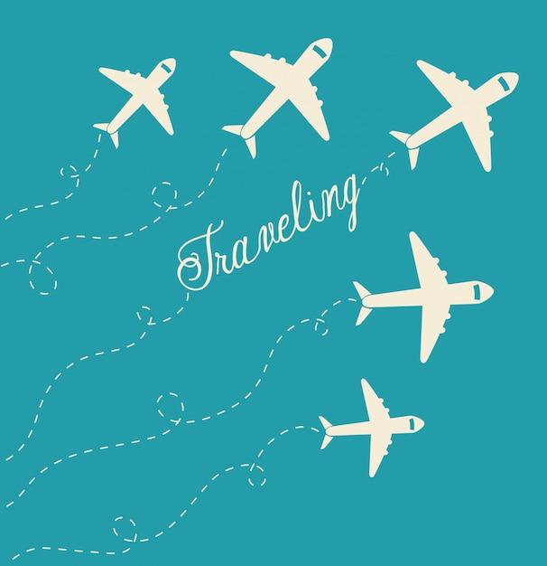 Lato, podróże i wakacje Premium Wektorów