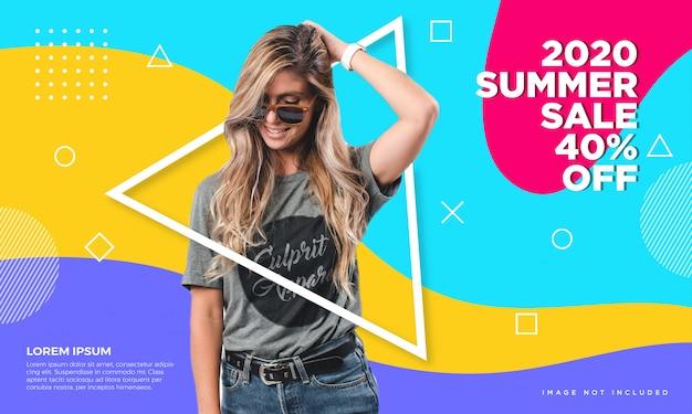 Lato sprzedaż transparent Premium Wektorów