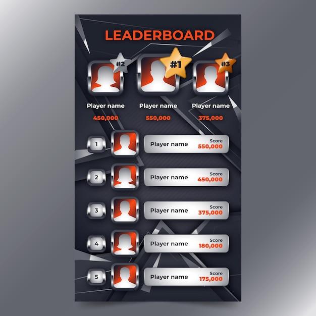 Leaderboard Z Abstrakcyjnym Tłem Darmowych Wektorów