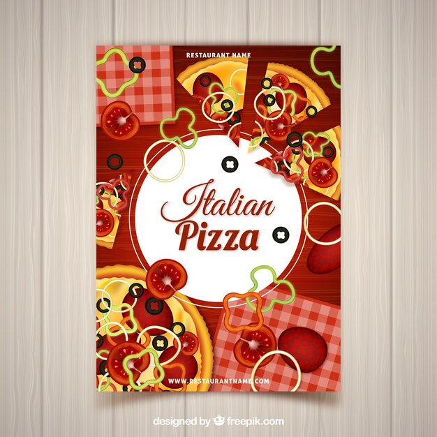 Leaflet Z Dodatkiem Pizzy Darmowych Wektorów