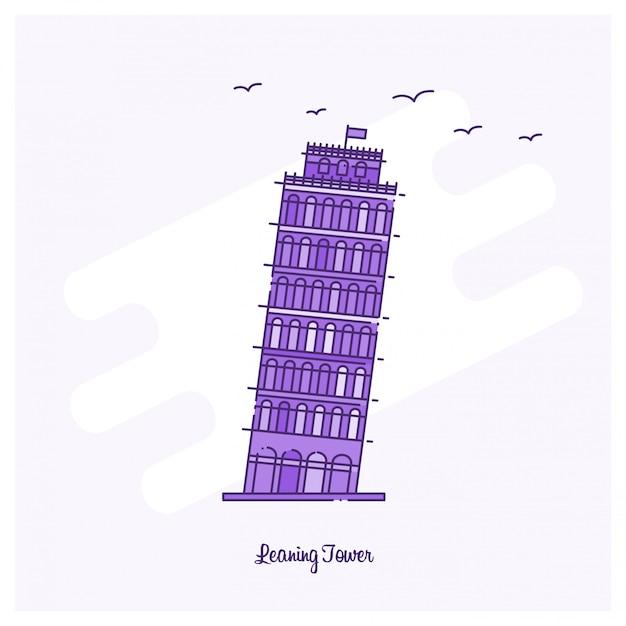Leaning tower landmark Darmowych Wektorów