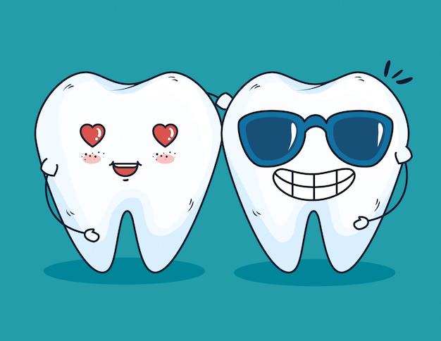 Leczenie zębów z profesjonalną medycyną Darmowych Wektorów