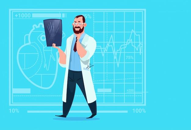 Lekarz Bada Xray Medical Clinic Worker Hospital Surgery Premium Wektorów