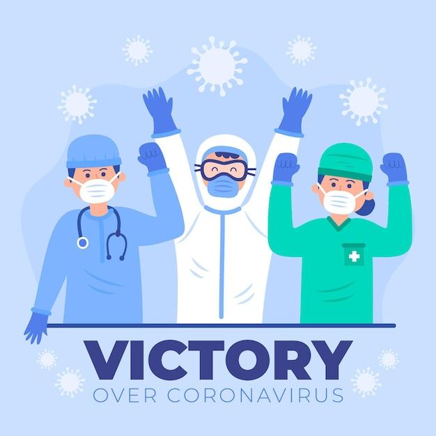 Lekarze Wiwatują I Są Szczęśliwi Darmowych Wektorów