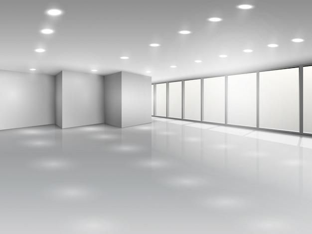 Lekka sala konferencyjna lub wnętrze otwartej przestrzeni biurowej Darmowych Wektorów