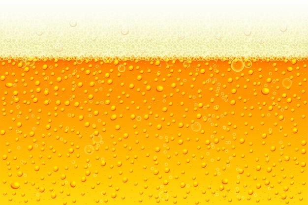 Lekkie Piwo Z Piankowym Tłem. Premium Wektorów
