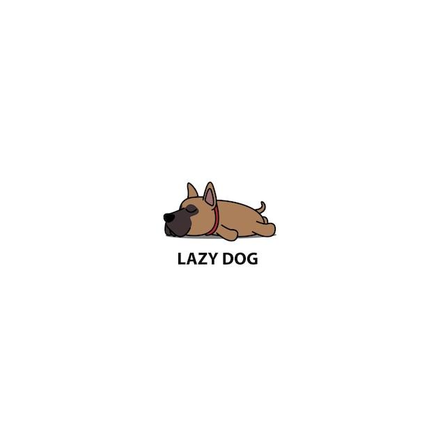 Leniwy Pies Szczeniak Spanie Ikona Premium Wektorów