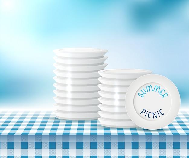 Letni Piknik Premium Wektorów